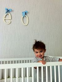 Jeff Gordon Celebrity Nursery featuring New Arrivals Hanging Wooden Letters!