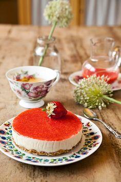 Cheesecake vegano... sin queso, sin horno, sin azúcar.... Delicioso!!   Mis Recetas Anticáncer
