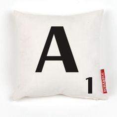 Personalised Original Font Cream Scrabble Letter Cushion