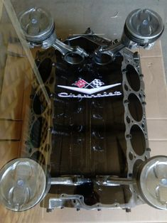 Engine Block Table Chevy Chevrolet SBC Car Part Furniture Man Cave Automotive, Automotive Furniture, Automotive Decor, Automotive Engineering, Automotive Design, Automotive Carpet, Automotive Sales, Engineering Jobs, Automotive Industry