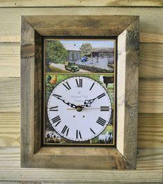 The Handmade Furniture Company Rustic Oak Farm Handmade Wooden Wall Clock, £19.99