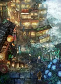 City Anime Wallpapers Imagen Scenery Original Ciudad Montain Picture… Source by misslouisedoll Comments comments Fantasy City, Fantasy Places, Fantasy World, Fantasy Landscape, Landscape Art, Anime Scenery, Environment Design, Land Scape, Amazing Art
