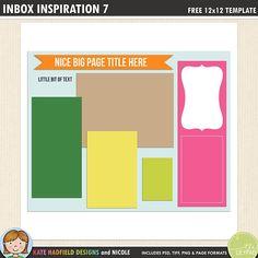 The 571 best free digital scrapbook templates images on pinterest in free digital scrapbooking template inbox inspiration 7 maxwellsz