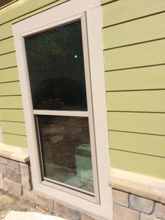 window trim is painted window are 3x6 foot tall