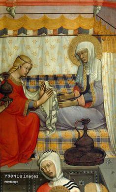 Paolo di Giovanni Fei - Natività della Vergine, dettaglio - 1381 - Pinacoteca Nazionale, Siena