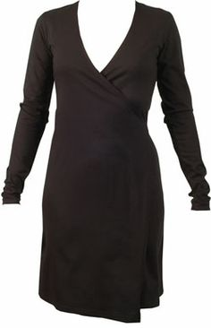 Gaby Black Organic Cotton Wrap Dress by IDEO  Our Products: WOMEN > Dresses & Skirts