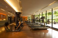 Guests have access to the 24-hour gym at the Hilton Phuket Arcadia Resort & Spa