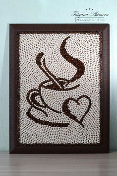 Creative Diy Ideas For Pebble Art Crafts! - Do It Yourself Samples Diy Home Crafts, Creative Crafts, Arts And Crafts, Adult Crafts, Button Art, Button Crafts, Coffee Bean Art, Seed Art, Coffee Crafts