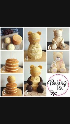 Making of how to Tutorial Teddy bear cake Bär Torte (Bake Treats Parties) Cake Decorating Techniques, Cake Decorating Tutorials, Cake Decorating For Beginners, Decorating Cakes, Decorating Ideas, Teddy Bear Cakes, Teddy Bears, Cake Shapes, Sculpted Cakes