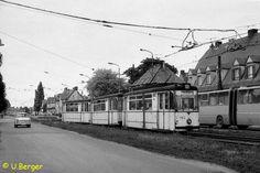 Eine Fotostrecke der Überlandbahn Bad Dürrenberg - Halle/Saale in Leuna nahe Merseburg (Frühjahr 1988)