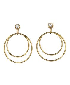 Gold SWAROVSKI ELEMENTS Stylish Earrings by Annaleece on #zulily