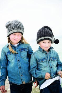 Strikkeopskrift - Fine huer til børnene Knitting For Kids, Chrochet, Winter Hats, Stylish, Cute, Fashion, Crochet, Moda, Crocheting