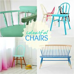 Dans le Townhouse: A Respectable Makeover for an Antique Chair: turquoise top, wooden legs