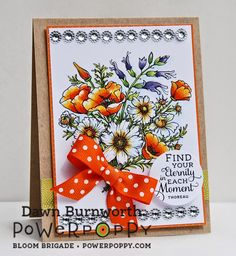 My Stamping Thyme: Countryside Bouquet by Dawn Burnworth for Power Poppy!