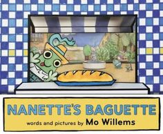 Cravings for a particular cuisine are a powerful thing.  Nanette's Baguette (Hyperion Books for Children, an imprint of Disney Group, October 25, 2016) words and pictures by Mo Willems follows a frog during a food fiasco.  A first becomes the worst.