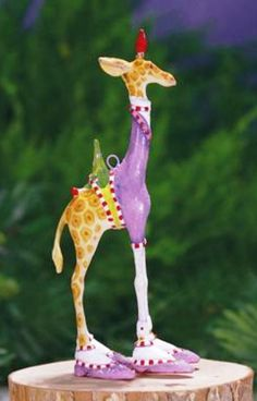 XMAS KRINKLES'GEORGE GIRAFFE'MINI ORNAMENT PATIENCE BREWSTER  2014 DECORATION