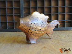 Vintage geschnitzt Holz Fisch Vorspeisen Zahnstocher Inhaber Haushaltswaren