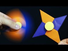 Fidget Spinner selber bauen: Origami Fidget Spinner basteln mit Papier ohne Kugellager. deutsch. DIY - YouTube
