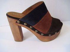 Boho Chic Five Worlds Open Toe Suede Clogs - Like Free People Size 37 1/2 #FiveWorlds #OpenToe #Casual