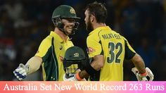 Highlights of Australia breaking the world record for the highest T20 Cricket score https://youtu.be/Os9ntZXrJuY Love #sport follow #sports on @cutephonecases
