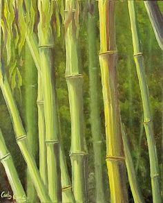 PINTURA AL OLEO Y FOTOGRAFIA Carlos García: Bambú 2 / Bamboo 2 / Bambou 2