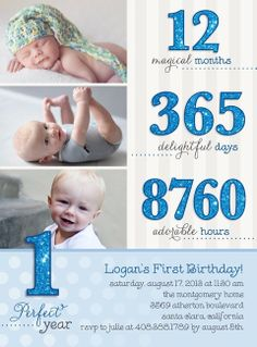 Another cute invite to a baby boy's 1st B-day party