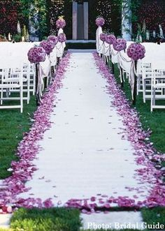 From ceremony to reception, inside or outside event, find all your Wedding Decor needs like this Elegant 100' long Aisle Runner with a decorative pattern at ShopWildThings.