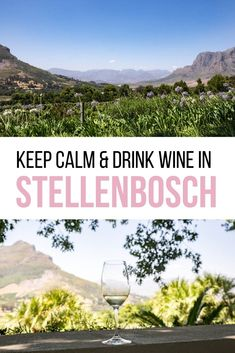 Keep Calm & Go Wine Tasting in Stellenbosch. - My favorite motto in life is 'keep calm & drink wine'. I recommend my favorite Winelands vineyards for wine tasting in Stellenbosch, South Africa. Where to drink wine in the Winelands Travel Advice, Travel Tips, Travel Articles, Travel Guides, Africa Destinations, Travel Destinations, Drink Wine, Africa Travel, Foodie Travel