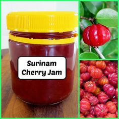 We have 2 Surinam (Brazillian) Cherry trees in our garden. Every year they produce lots of the cute lantern shaped fruit. Cherry Chutney Recipes, Cherry Recipes, Cherry Syrup, Canned Food Storage, Brazilian Cherry, Cherry Cake, Canning Recipes, Different Recipes, Diy Food