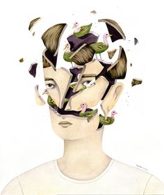 Lovely & Fantastic Illustrations Show Animals Emerging From Exploding Heads - DesignTAXI.com