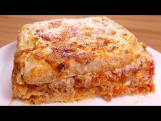 receta LASAÑA DE PAN DE MOLDE estilo pastel - recetas de cocina faciles rapidas y economicas - YouTube