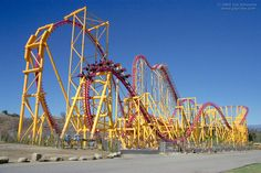"""X"" at Six Flags Magic Mountain in Valencia, California"