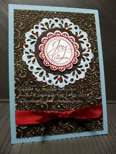 Perfect Punches Delicate Doilies Christmas by fauxme - Cards and Paper Crafts at Splitcoaststampers