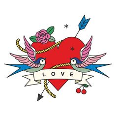 This could be a motif for a new wedding card  #love #swallow #heart #bow #cherry #rose #motif #inthemaking #draft #newcards #greetingcards #postcards #print #design #graphicdesign #illustration #instadaily