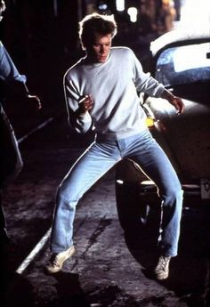Kevin Bacon in the original Footloose - a classic movie with some great dance scenes.