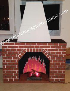 Camino di cartone; fireplace cardboard