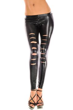 Soft Touch Pleather Leggings  $16.50