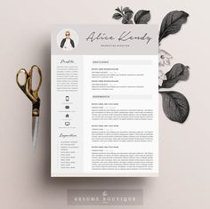 Resume Template 3 page | Word DIY Printable CV with Cover Letter | The…