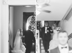 Anna walking down with her dad to see her groom before heading to Park Savoy for the wedding reception. Anna and Adam