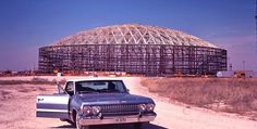 The Astrodome under construction.