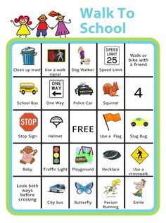 Encourage your kids to walk to school with this Bingo Board. It's great for health, concentration, traffic, and the environment! Walk To School, School Week, Baby Feeding Chart, Bingo Board, Chore Chart Kids, Chores For Kids, Gentle Parenting, Exercise For Kids, Kids Prints