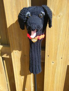 Items similar to Ready to ship Hand knit Black Lab golf club cover on Etsy Craft Projects, Projects To Try, Golf Club Covers, Black Labrador Retriever, Golf Tips For Beginners, Golf Clubs, Hand Knitting, Knit Crochet, Golf Stuff