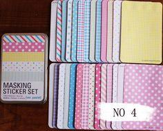 Tin Box Masking Sticker Set Deco Sticker Korean by mieryaw