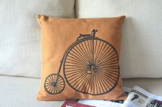 Nordic Vintage Bicycle Pillow