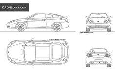 Here are premium AutoCAD blocks of the Hyundai Tiburon known as the Hyundai Coupé in the European Market. New Hyundai, Hyundai Cars, Cad Blocks Free, Models Men, Table Football, Sport Suv, Mini Car, Air Hockey, Bmw I8