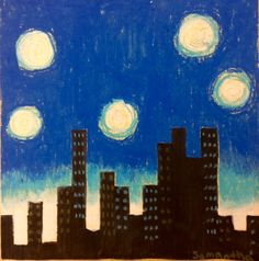Pi Day Art, Elementarty Art Lesson, Middle School Art Lessons, Steam Art Lessons, Oil Pastel, Sharpie art, Cray Pas, Van Gogh, Starry Night