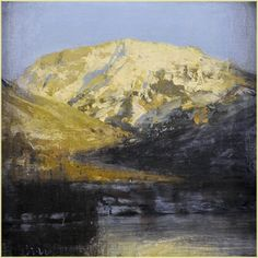 "Image of Michael Workman | ""Winter Mountain and Lake"""