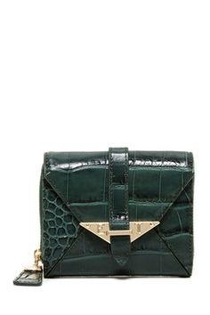 Elaine Turner Croco French Wallet