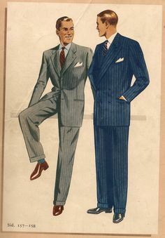 1950, mitt födelseår, såg herrarna ut såhär. Det var stil på männen då. (Åhlen & Holm) Fashion Images, Fashion Art, Mens Fashion, Mode Vintage, Vintage Men, 1940s Fashion, Vintage Fashion, Estilo Retro, Well Dressed Men