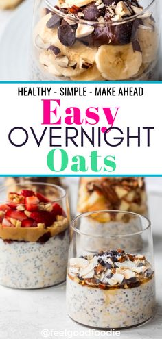 Easy Overnight Oats Easy Overnight Oats,Food Your Kids Will Love This easy overnight oats recipe is a healthy simple breakfast that you can make ahead for busy mornings and customize with many add-ins and. Healthy Breakfast On The Go, Vegetarian Breakfast Recipes, Healthy Breakfast Smoothies, Breakfast Ideas, Oats Recipes, Snack Recipes, Easy Overnight Oats, Snacks Sains, No Bake Snacks